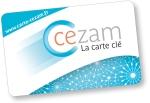 Logo carte Cezam penché